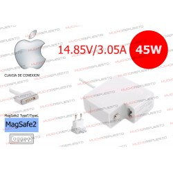 CARGADOR Apple / Mac MagSafe2 MacBook Pro Retina / Air 14.85V 3.05A 45W