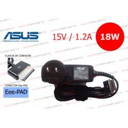 CARGADOR ORIGINAL ASUS 15V 1.2A 18W CONECTOR Eee-PAD