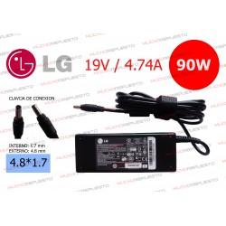 CARGADOR ORIGINAL LG 19V 4.74A 90W 4.8*1.7 BULLET TIP