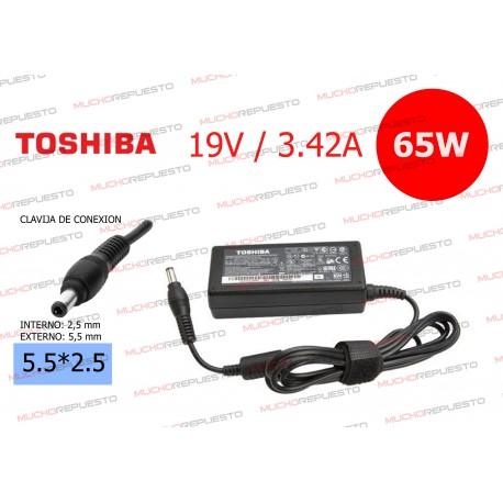 CARGADOR ORIGINAL TOSHIBA 19V 3.42A 65W 5.5*2.5