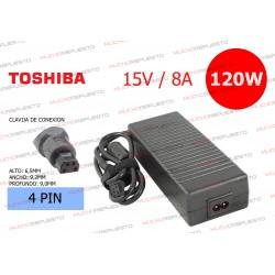CARGADOR ORIGINAL TOSHIBA 15V 8A 120W 4pin