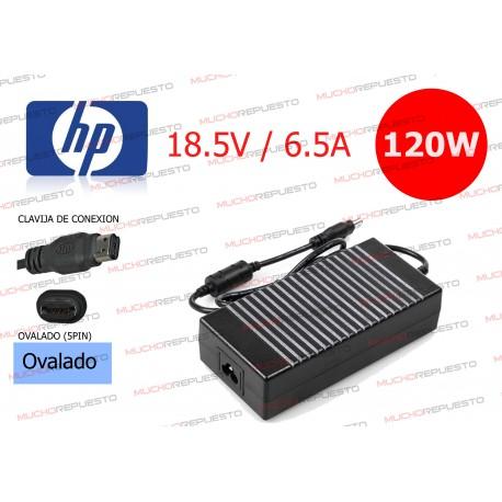 CARGADOR ORIGINAL HP 18.5V 6.5A 120W PIN OVALADO