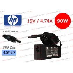 CARGADOR ORIGINAL HP 19V 4.74A 90W 4.8*1.7 BULLET TIP A07