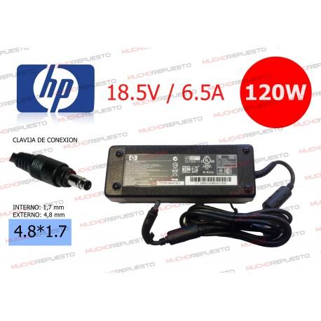 CARGADOR ORIGINAL HP 18.5V 6.5A 120W BULLET TIP 4.8*1.7
