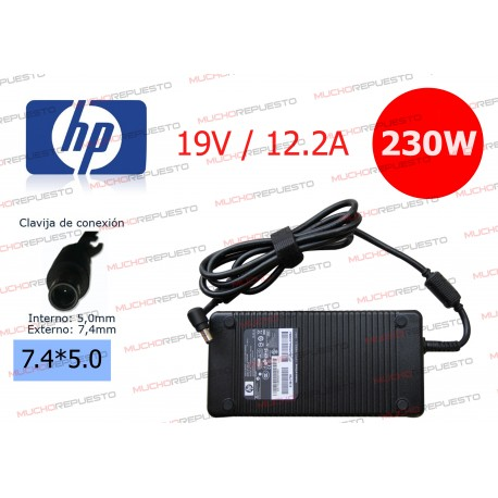 CARGADOR ORIGINAL HP 19V 12.2A 230W 7.4*5.0 CENTRAL PIN