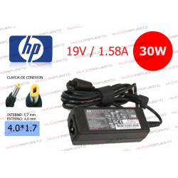 CARGADOR ORIGINAL HP 19V 1.58A 30W 4.0*1.7 PIN AMARILLO