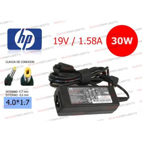 CARGADOR ORIGINAL HP 19V 1.58A 30W 4.0*1.7 PIN AMARILLO