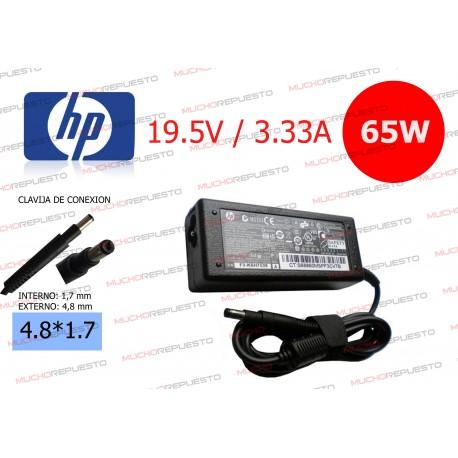 CARGADOR ORIGINAL HP 19.5V 3.33A 65W 4.8*1.7