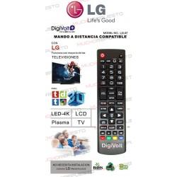 MANDO A DISTANCIA TV PARA LG (COPIA EXACTA AL ORIGINAL) (Modelo 1)