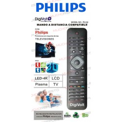 MANDO A DISTANCIA TV PARA PHILIPS (COPIA EXACTA AL ORIGINAL)