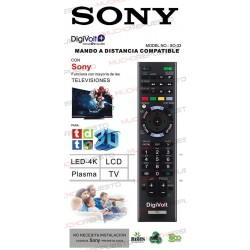 MANDO A DISTANCIA TV PARA SONY (COPIA EXACTA AL ORIGINAL)