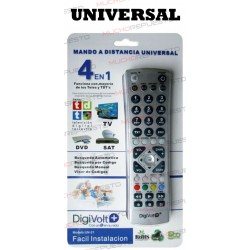 MANDO A DISTANCIA UNIVERSAL 4 EN 1 MULTIMARCA (TV-DVD-SAT-TDT)