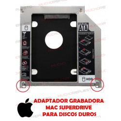 BAHIA /CADDY DE 9.5mm DVD SATA PARA HDD MACBOOK (1