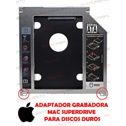 BAHIA /CADDY DE 9.5mm DVD SATA PARA HDD MACBOOK (2