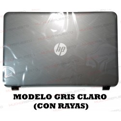 LCD BACK COVER HP 250 G3/255 G3/256 G3/15-G/15-H/15-R/15-T/15-Z (GRIS CLARO)