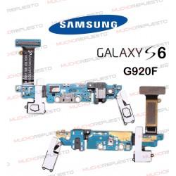 CABLE FLEX CONECTOR MICRO USB + BOTONES + JACK SAMSUNG GALAXY S6 G920F