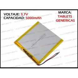 BATERIA TABLET GENERICA 5000mAh 3.7V (Valida para las marcas genericas)