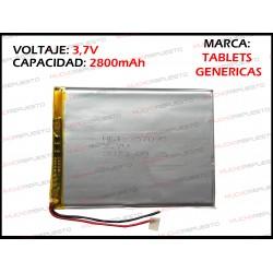 BATERIA TABLET GENERICA 2800mAh 3.7V (Valida para las marcas genericas)