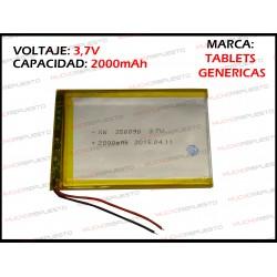 BATERIA TABLET GENERICA 2000mAh 3.7V (Valida para las marcas genericas)