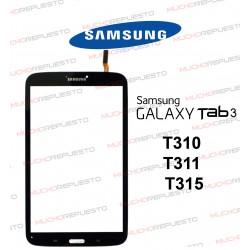 """CRISTAL+TACTIL TABLET SAMSUNG Galaxy TAB3 T310/T311/T315 8"""" NEGRA"""