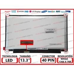 "PANTALLA 13.3"" LED (1366x768) SLIM 4 PUNTOS ANCLAJE SUPERIOR/INFERIOR BAJO IZQUIERDA"