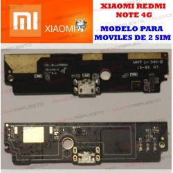 PLACA CONECTOR USB XIAOMI RedMi Note 4G LTE (Modelo DUAL SIM - 2 SIM)