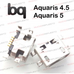 CONECTOR MICROUSB CARGA / DATOS BQ AQUARIS 4.5 / 4,5 / AQUARIS 5