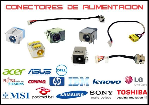 Conectores de alimentación para Portátiles